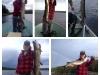 Trish caught 7 Muskies at our portage lake, Big Muskie